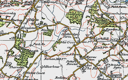 Old map of Link House in 1921