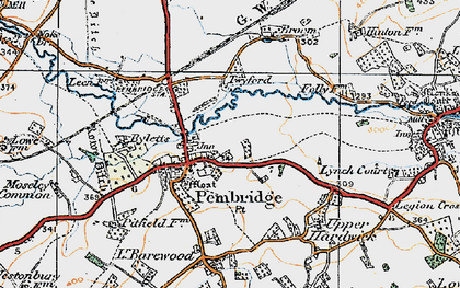 Old map of Pembridge in 1920