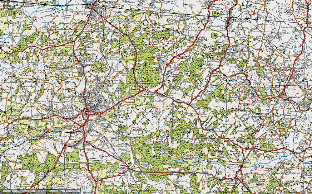 Old Map of Pembury, 1920 in 1920