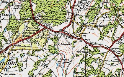 Old map of Pembury in 1920