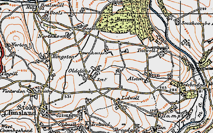 Old map of Lidwell in 1919