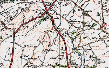 Old map of Blaenau in 1923