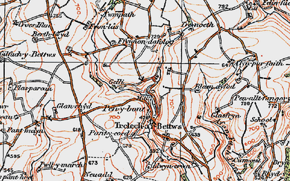 Old map of Woodlands in 1922