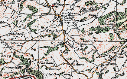 Old map of Ashton in 1921