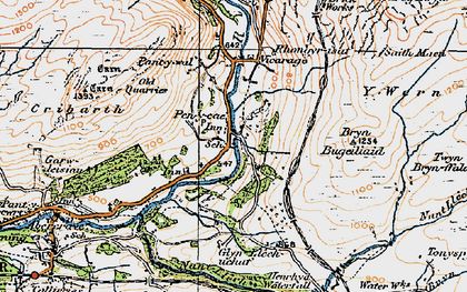 Old map of Pen-y-cae in 1923