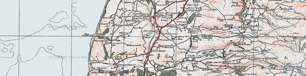 Old map of Wileirog in 1922