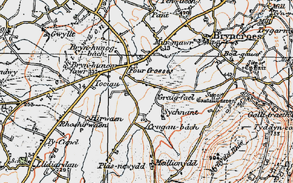 Old map of Tocia in 1922