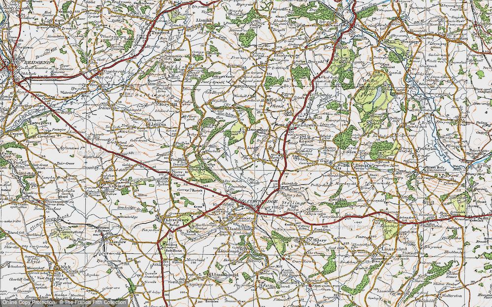 Old Map of Pen-y-lan, 1922 in 1922