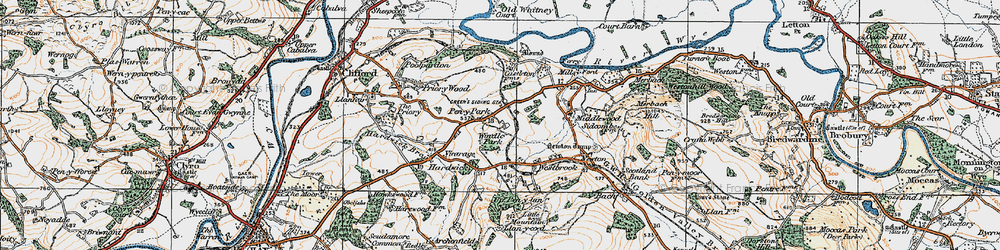Old map of Windle Park in 1919