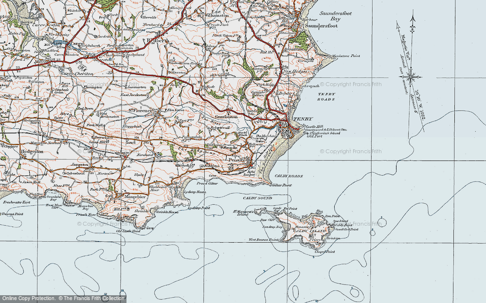 Old Maps of Proud Giltar - Francis Frith Giltar Map on