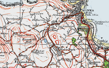 Old map of Penbeagle in 1919