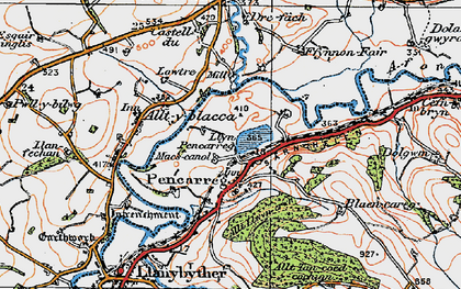 Old map of Abergrannell in 1923