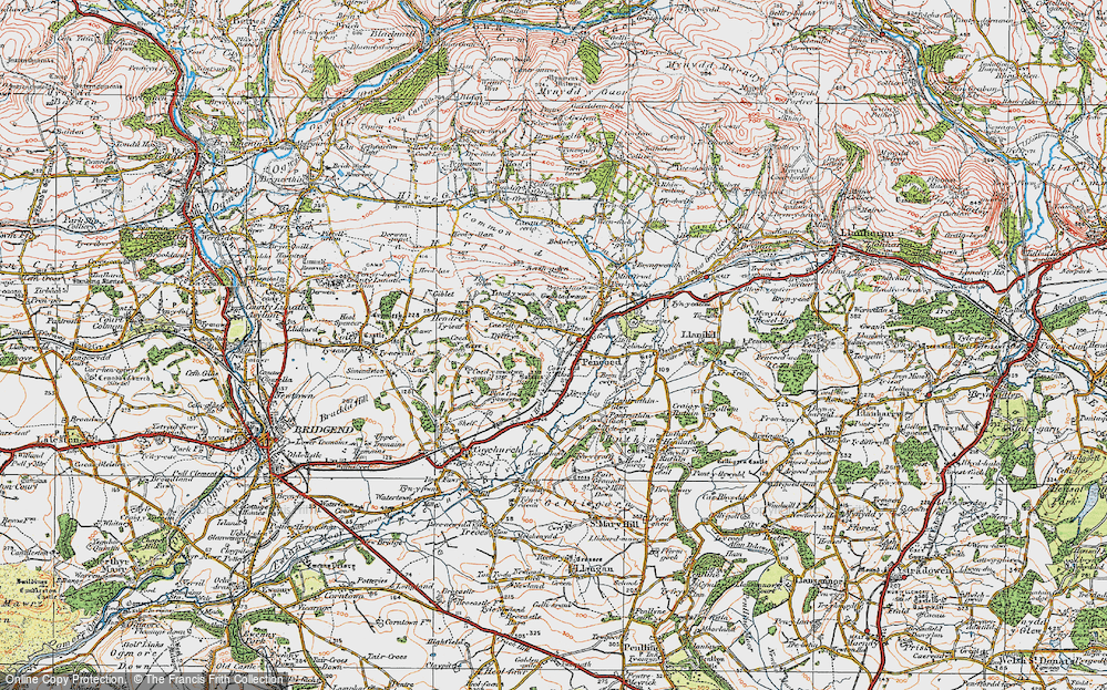 Old Map of Pencoed, 1922 in 1922