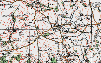 Old map of Winslow in 1920