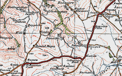 Old map of Pencuke in 1919