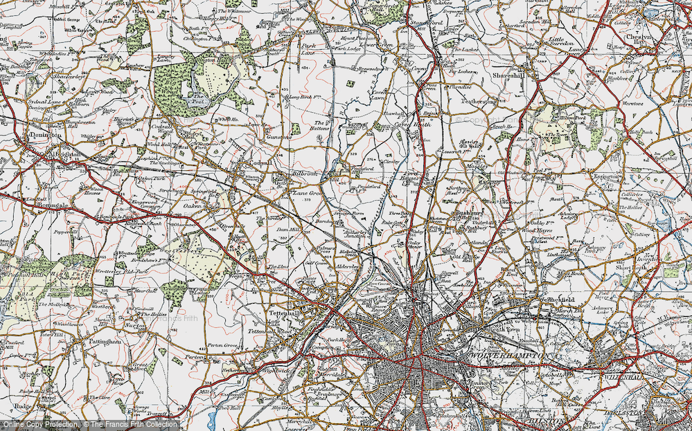 Old Map of Historic Map covering Autherley Junction in 1921