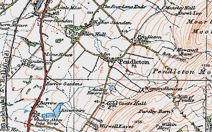 Old map of Wymondhouses in 1924
