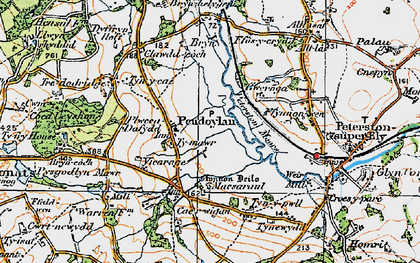 Old map of Allt Laes in 1922