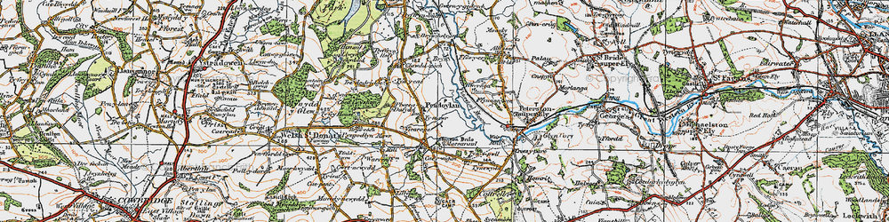 Old map of Allt Isaf in 1922
