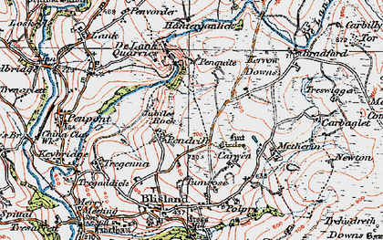 Old map of Pendrift in 1919