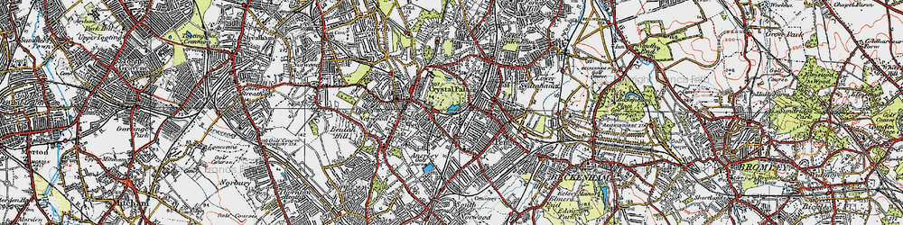 Old map of Penge in 1920