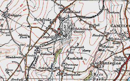 Old map of Pengelly in 1919