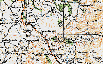 Old map of Whole Ho in 1919