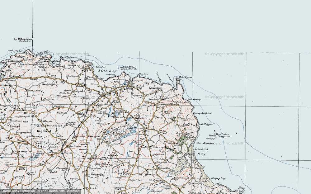 Old Map of Pengorffwysfa, 1922 in 1922