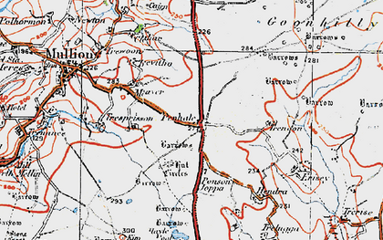 Old map of Penhale in 1919