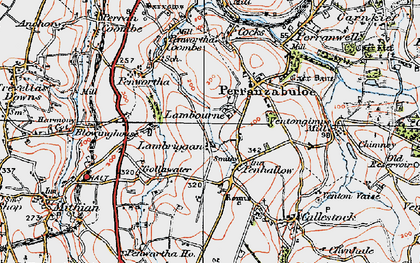Old map of Penhallow in 1919