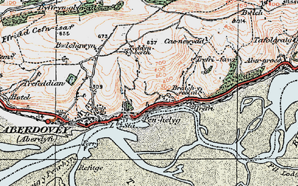 Old map of Aber-Tafol in 1922
