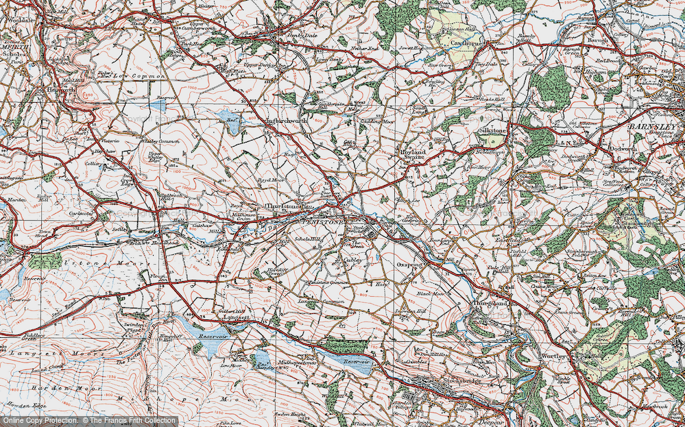 Old Map of Penistone, 1924 in 1924