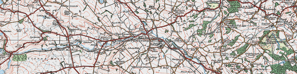 Old map of Penistone in 1924