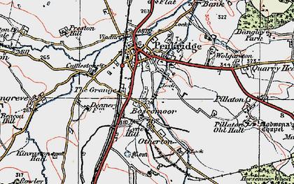 Old map of Penkridge in 1921
