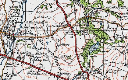 Old map of Penllergaer in 1923