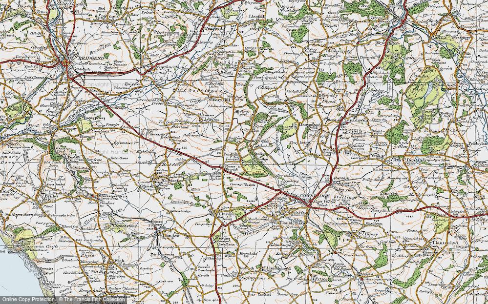 Old Map of Penllyn, 1922 in 1922