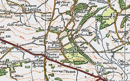 Old map of Penllyn in 1922