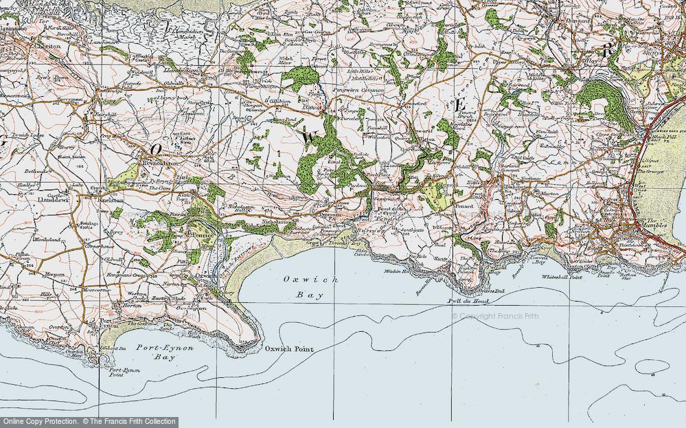 Old Map of Penmaen, 1923 in 1923