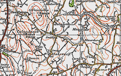 Old map of Penmarth in 1919