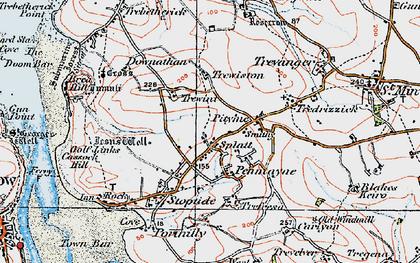 Old map of Penmayne in 1919