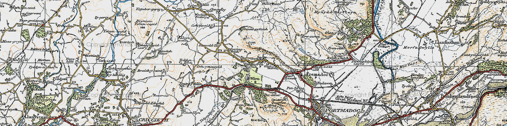 Old map of Y Fedw in 1922