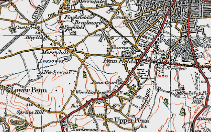 Old map of Penn in 1921