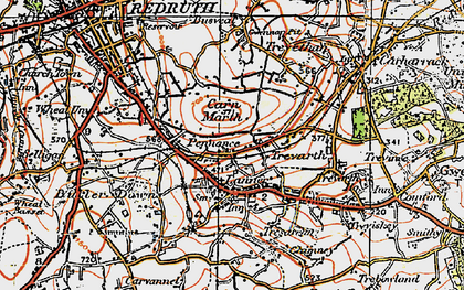 Old map of Pennance in 1919