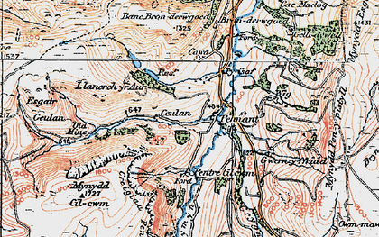 Old map of Wig in 1921