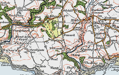 Old map of Widegate in 1923