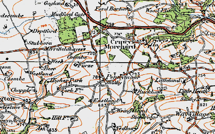 Old map of Yeadbury in 1919