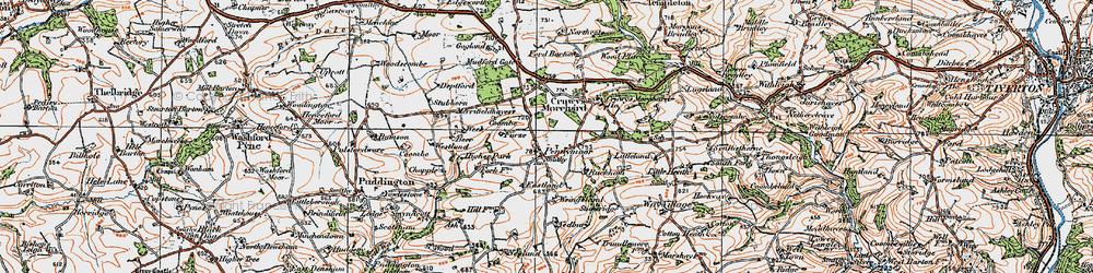 Old map of Wringsland in 1919