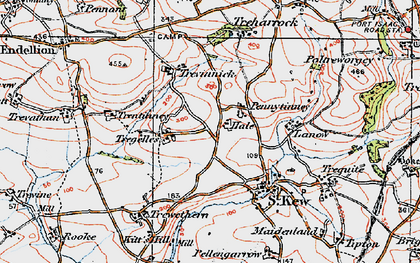 Old map of Pennytinney in 1919
