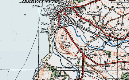 Old map of Penparcau in 1922