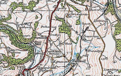 Old map of Penpillick in 1919